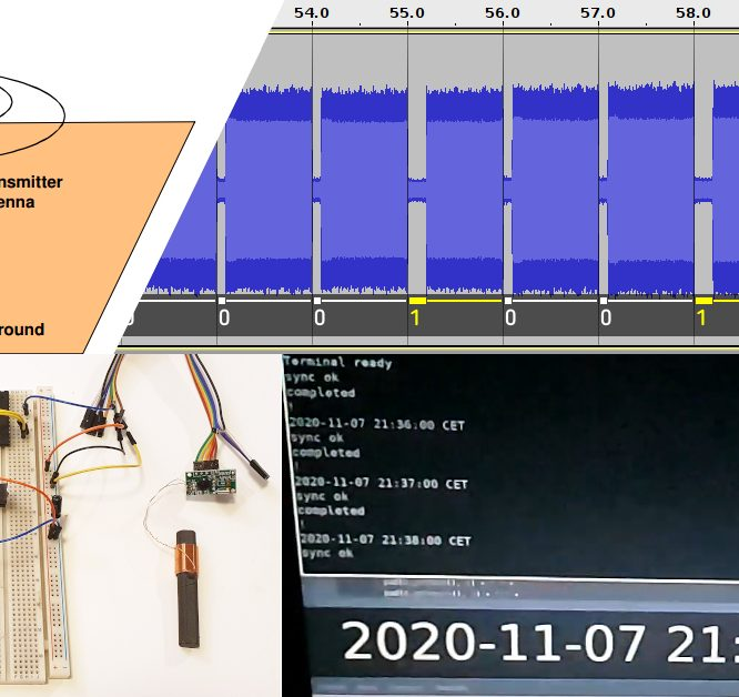 Receiving and decoding the DCF77 time signal with an ATMega/ATTiny AVR